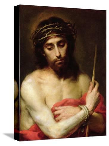Christ the Man of Sorrows-Bartolome Esteban Murillo-Stretched Canvas Print