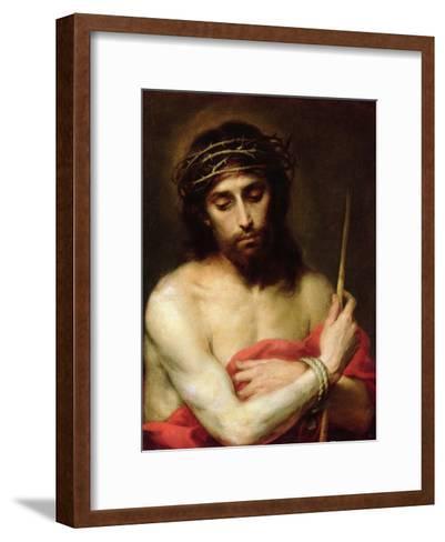 Christ the Man of Sorrows-Bartolome Esteban Murillo-Framed Art Print
