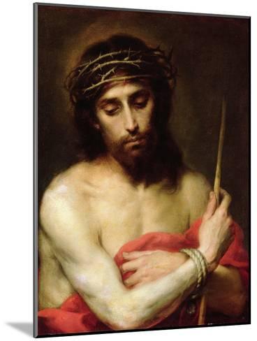 Christ the Man of Sorrows-Bartolome Esteban Murillo-Mounted Giclee Print