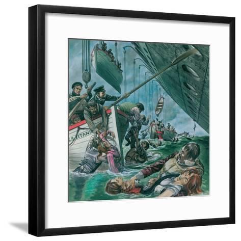 The Sinking of the Titanic-Peter Jackson-Framed Art Print