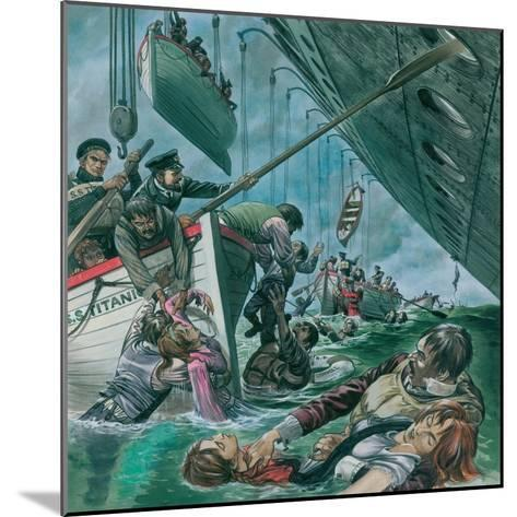 The Sinking of the Titanic-Peter Jackson-Mounted Giclee Print