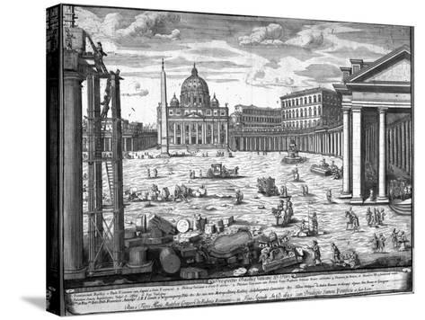 View of St. Peter's, Rome-Giovanni Battista Piranesi-Stretched Canvas Print