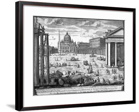 View of St. Peter's, Rome-Giovanni Battista Piranesi-Framed Art Print