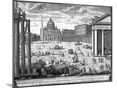 View of St. Peter's, Rome-Giovanni Battista Piranesi-Mounted Giclee Print