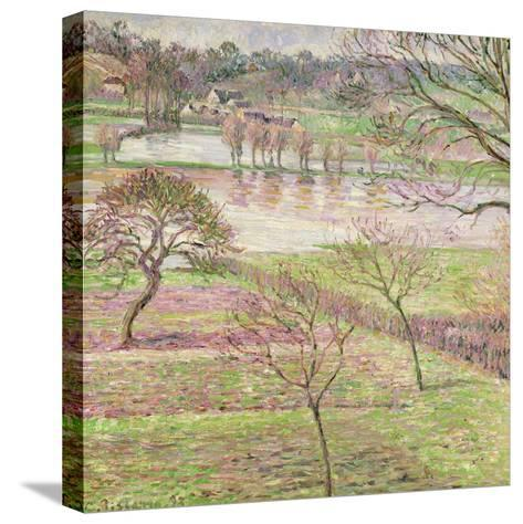 The Flood at Eragny, 1893-Camille Pissarro-Stretched Canvas Print