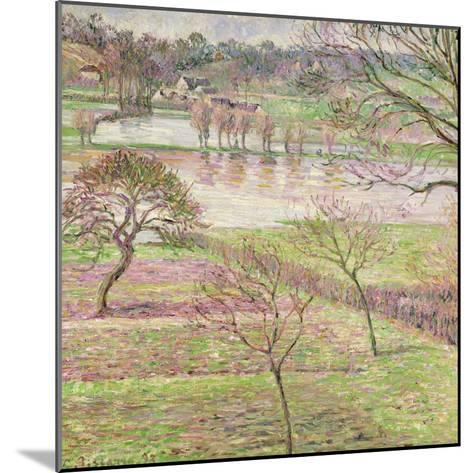 The Flood at Eragny, 1893-Camille Pissarro-Mounted Giclee Print