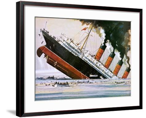 Sinking of the Lusitania-John S^ Smith-Framed Art Print