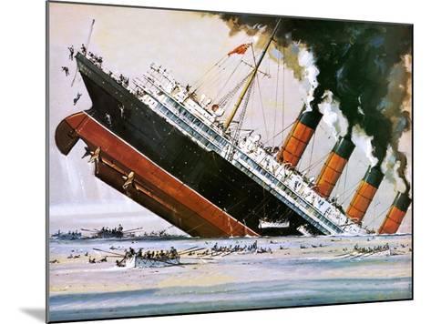 Sinking of the Lusitania-John S^ Smith-Mounted Giclee Print