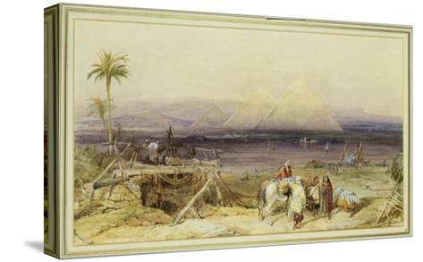 On the Nile, Egypt, 1846-William Clarkson Stanfield-Stretched Canvas Print