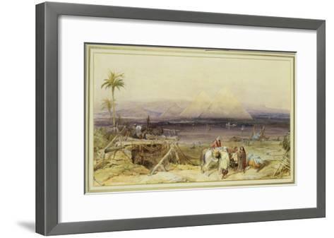 On the Nile, Egypt, 1846-William Clarkson Stanfield-Framed Art Print