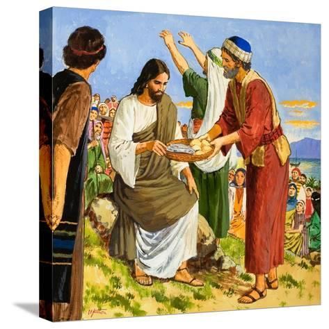 Feeding the Five Thousand-Clive Uptton-Stretched Canvas Print