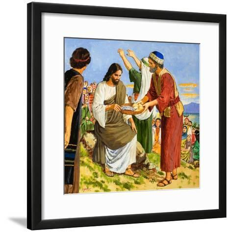Feeding the Five Thousand-Clive Uptton-Framed Art Print