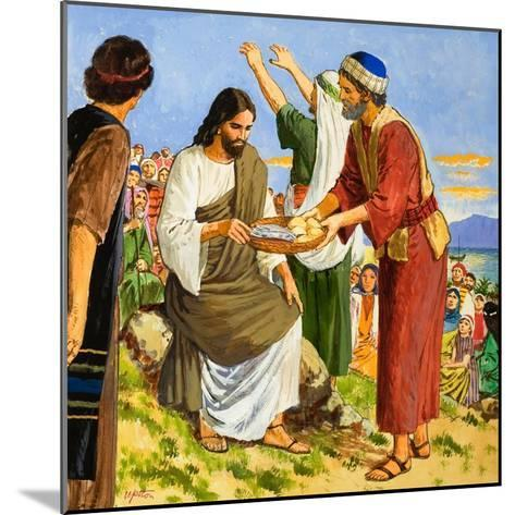 Feeding the Five Thousand-Clive Uptton-Mounted Giclee Print