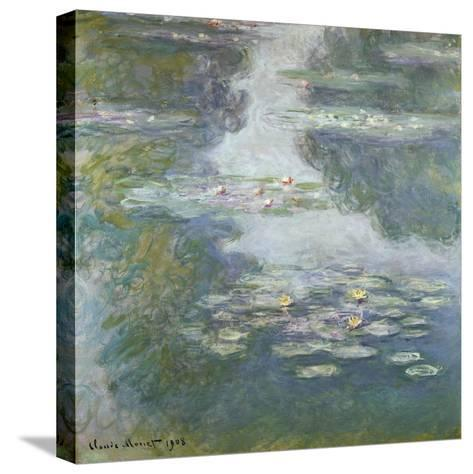 Waterlilies, Nympheas, 1908-Claude Monet-Stretched Canvas Print