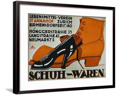 shoe Shops', Zurich-German School-Framed Art Print