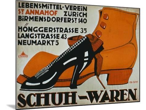 shoe Shops', Zurich-German School-Mounted Giclee Print