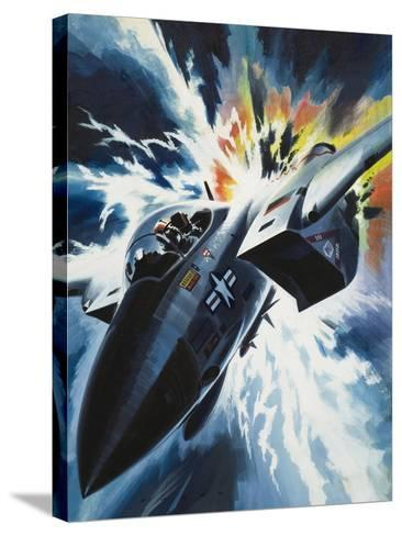 Danger from the Skies-Wilf Hardy-Stretched Canvas Print