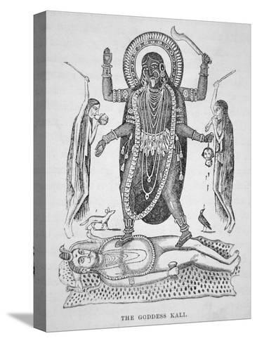 Kali the Hindu Goddess--Stretched Canvas Print