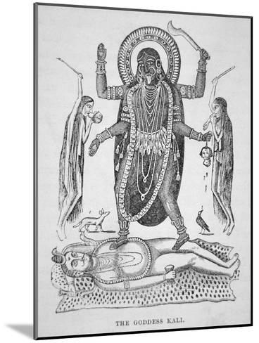 Kali the Hindu Goddess--Mounted Giclee Print