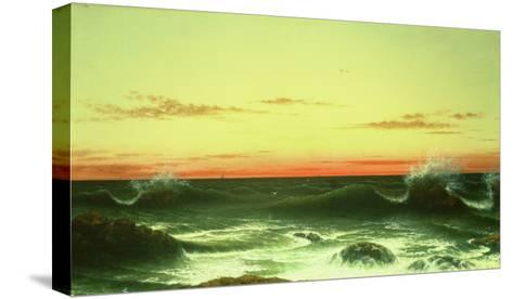 Seascape: Sunset, 1861-Martin Johnson Heade-Stretched Canvas Print