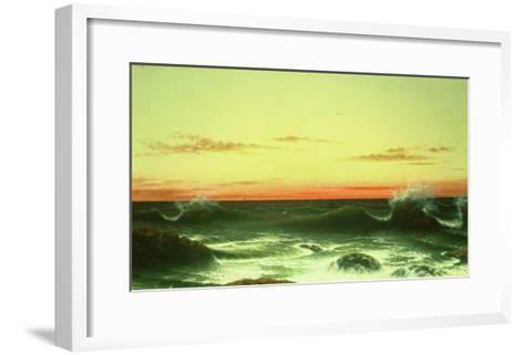 Seascape: Sunset, 1861-Martin Johnson Heade-Framed Art Print