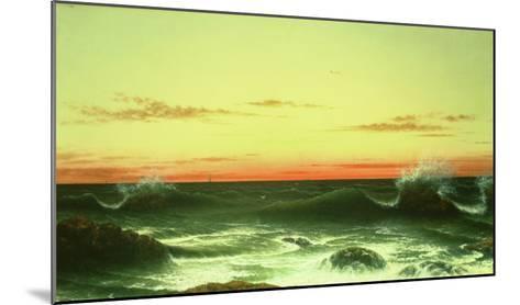 Seascape: Sunset, 1861-Martin Johnson Heade-Mounted Giclee Print