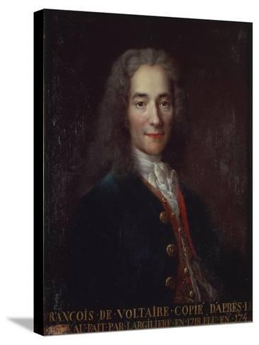 Portrait of Voltaire-Catherine Lusurier-Stretched Canvas Print