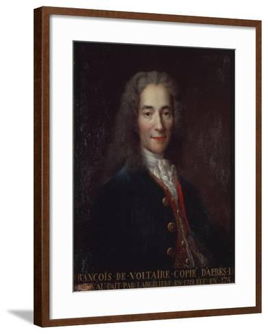 Portrait of Voltaire-Catherine Lusurier-Framed Art Print