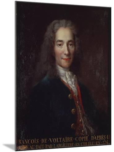 Portrait of Voltaire-Catherine Lusurier-Mounted Giclee Print