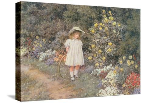 Pause for Reflection-Helen Allingham-Stretched Canvas Print