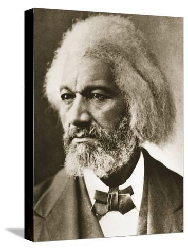 Frederick Douglass-Mathew Brady-Stretched Canvas Print