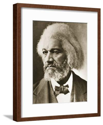 Frederick Douglass-Mathew Brady-Framed Art Print