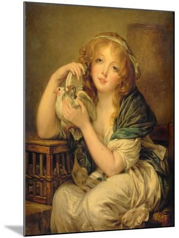 Girl with the Doves-John Constable-Mounted Giclee Print