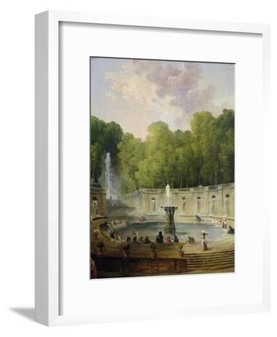 Washerwomen in a Park-Hubert Robert-Framed Art Print