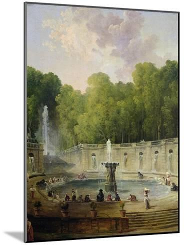 Washerwomen in a Park-Hubert Robert-Mounted Giclee Print