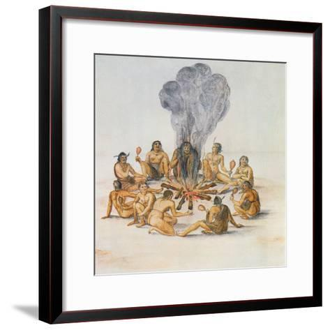 Indians Round a Fire Giclee Print by John White | Art.com