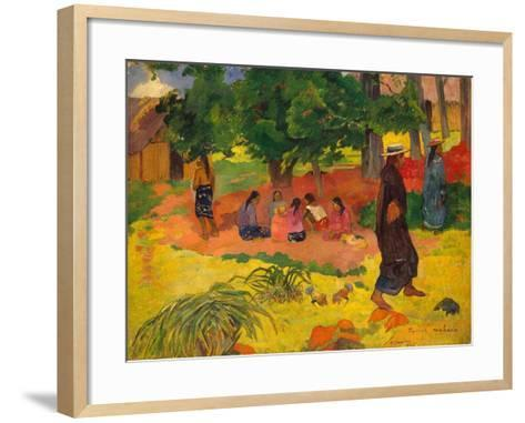 Taperaa Mahana, 1892-Paul Gauguin-Framed Art Print