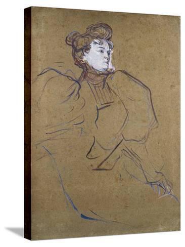 Misia Natanson, C.1897-Henri de Toulouse-Lautrec-Stretched Canvas Print