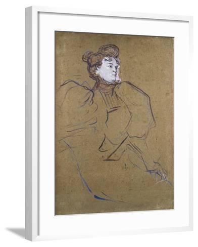 Misia Natanson, C.1897-Henri de Toulouse-Lautrec-Framed Art Print