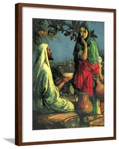 Jesus at Jacob's Well-John Millar Watt-Framed Art Print