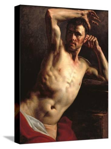 Male Nude Half-Length-Th?odore G?ricault-Stretched Canvas Print