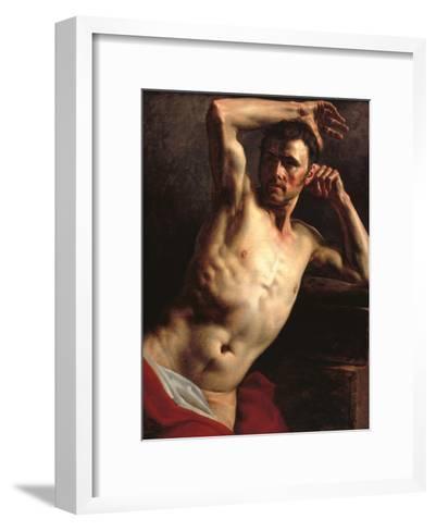 Male Nude Half-Length-Th?odore G?ricault-Framed Art Print