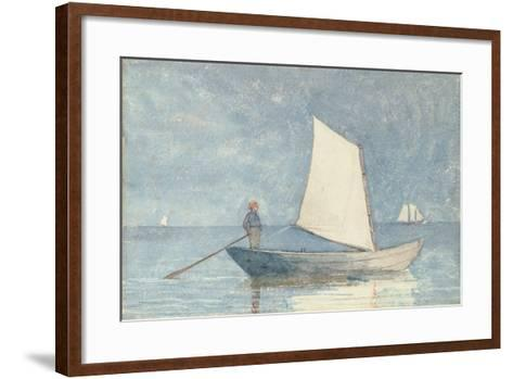 Sailing a Dory, 1880-Winslow Homer-Framed Art Print