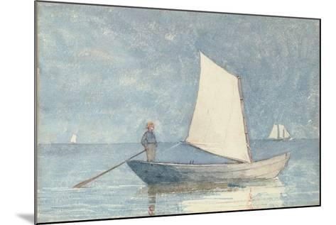 Sailing a Dory, 1880-Winslow Homer-Mounted Giclee Print