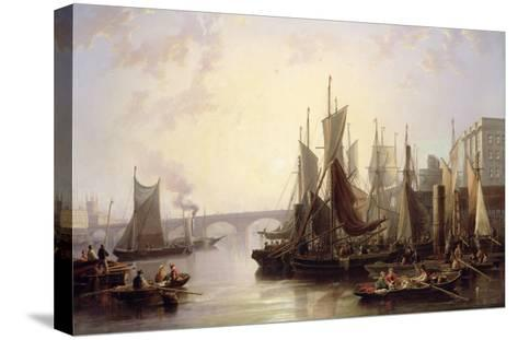 The Pool of London-John Wilson Carmichael-Stretched Canvas Print