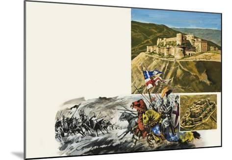 Le Krak Des Chevaliers- Green-Mounted Giclee Print