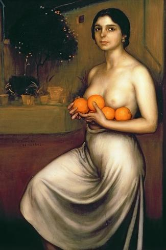 Oranges and Lemons-Julio Romero de Torres-Stretched Canvas Print