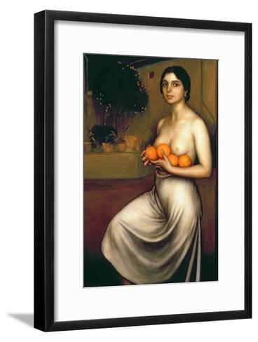 Oranges and Lemons-Julio Romero de Torres-Framed Art Print