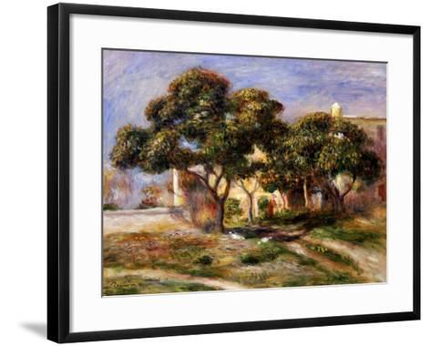 The Medlar Trees-Pierre-Auguste Renoir-Framed Art Print
