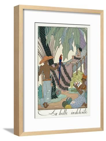 The Idle Beauty-Georges Barbier-Framed Art Print